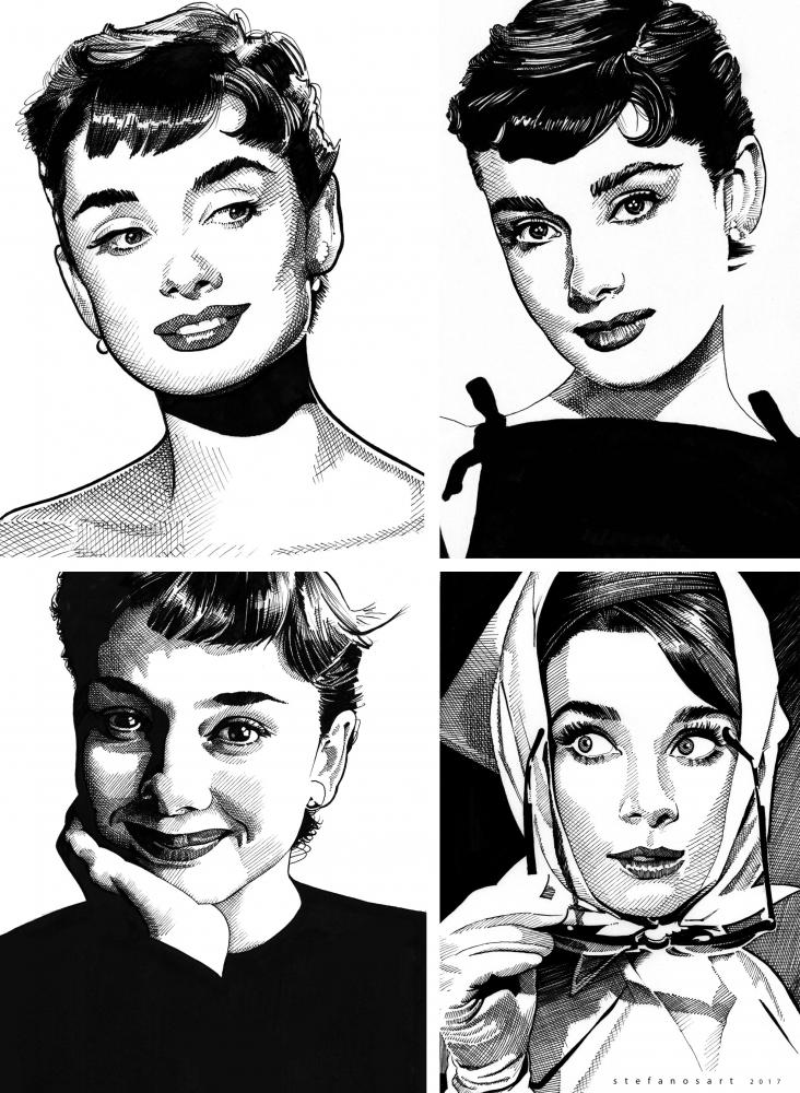 Audrey Hepburn par Stefanosart